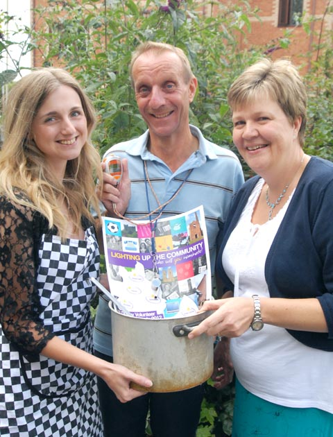 Sarah Freeman, Mick Mielczarek and Eileen Fielding from Dudley Council for Voluntary Service