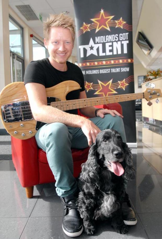 Adam Nash and Harvey the dog - who is hoping to follow in the footsteps of four-legged Pudsey, who won ITV's Britain's Got Talent. Buy photo:421202M