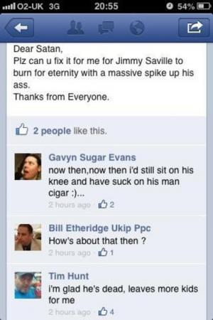 "Top cop candidate under fire over ""sick"" Facebook banter about Jimmy Savile"