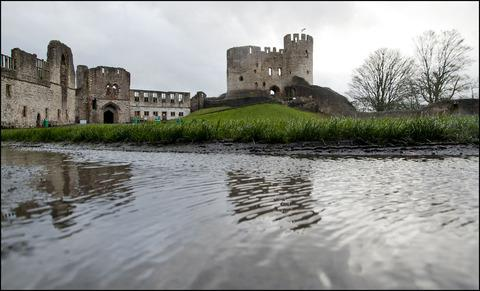 Flooding at Dudley Castle