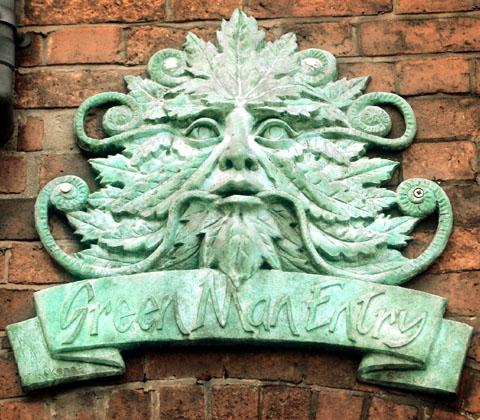 Green Man face stolen