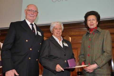Dudley News: HRH The Princess Royal presents Michael and Dorothea Willetts with their award