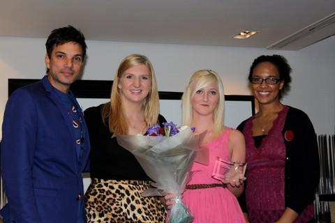 Emmerdale actor Matthew Bose, Olympic swimmer Rebecca Adlington, Rosie Paley and Amber-Michelle Hill, a PHD student at the Institute of Neurology.
