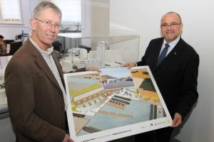 John Bradshaw (left), partner with BBLB, and Alan Knight, head of commercial at Walton & Hipkiss.