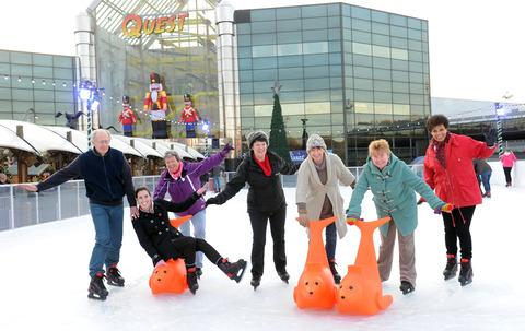 Dudley pensioners swap IT and art clases for ice skating and Nerf Blasters