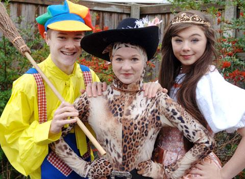 Liam Huband, aged 15, Shannon Wheatley, aged 14, and Beth Henwood, aged 14. Buy photo: 031308LA