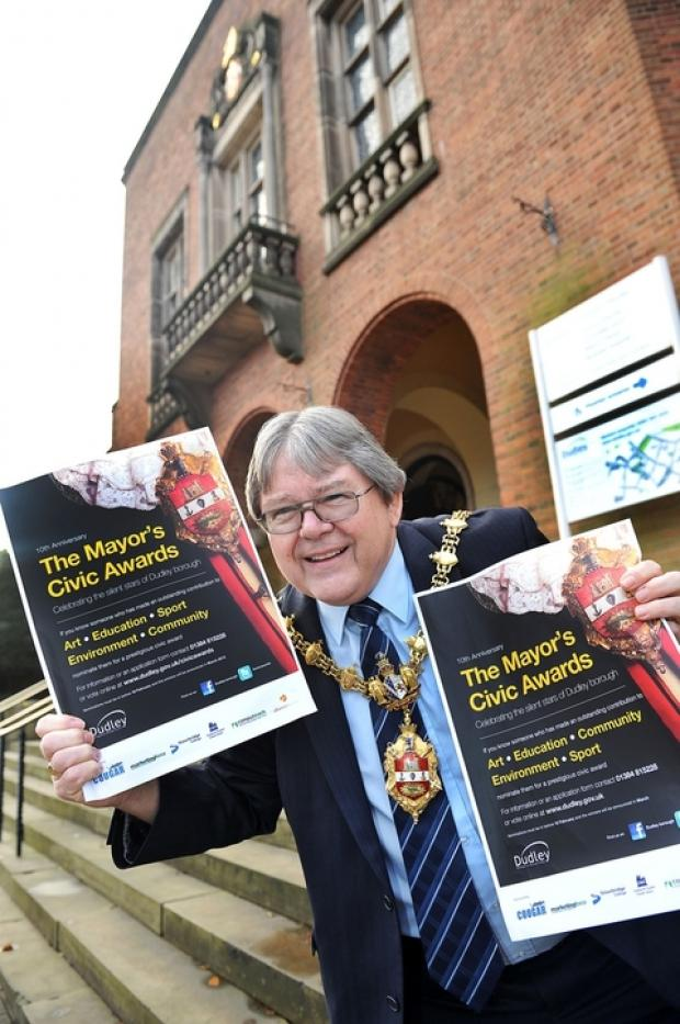 The Mayor of Dudley, cllr Melvyn Mottram, launches 2013 Civic Awards