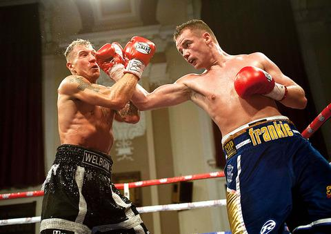Frankie Gavin lands a punch against Jason Welborn. Photo: www.markjjonesphotography.com