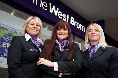 Branch manager Dani Brookes (centre) with customer service advisers Kerry Shrewsbury (left) and Lauren Hodgkiss (right ) outside the new West Brom branch in Sedgley.