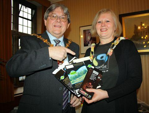 Mayor of Dudley with Michaela Vallance from Stourbridge Fairtrade.