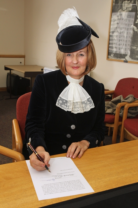 Newly installed: Christine Braddock, High Sheriff of the West Midlands.