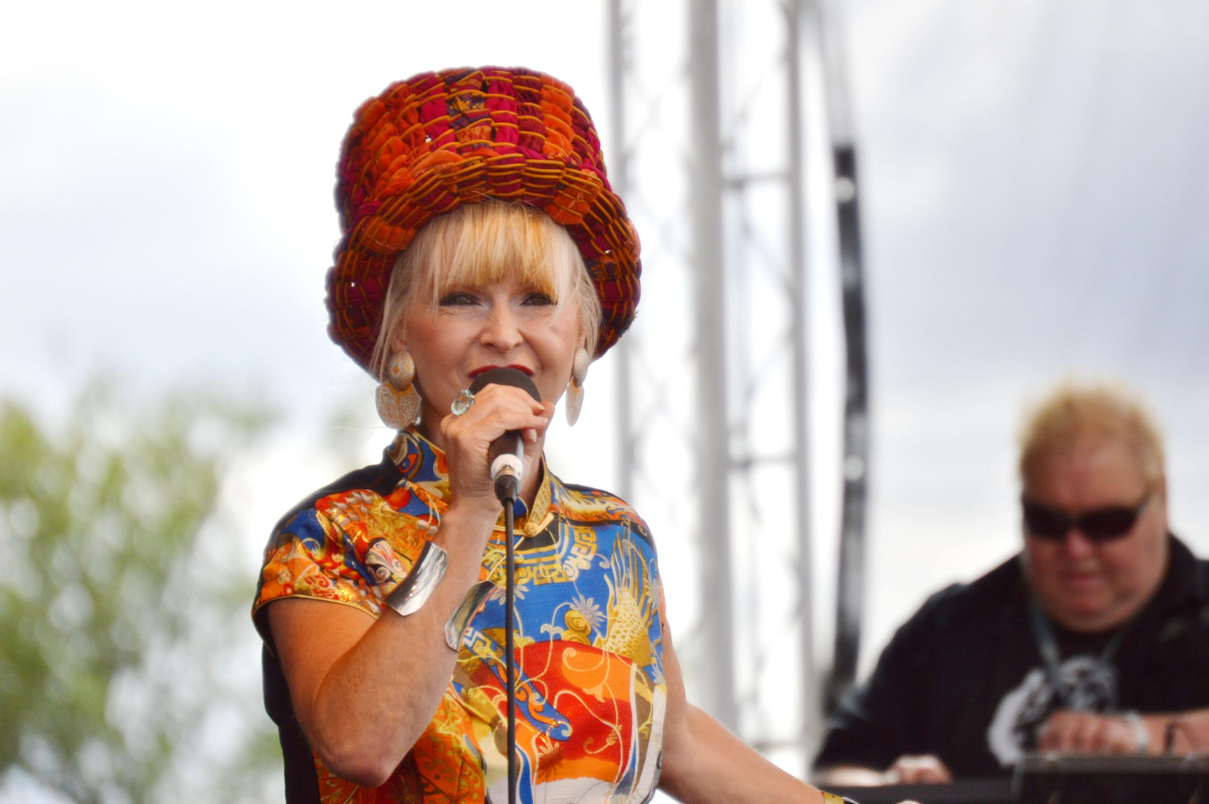 Toyah on stage at the Upton Music Festival (Picture by Liam White)