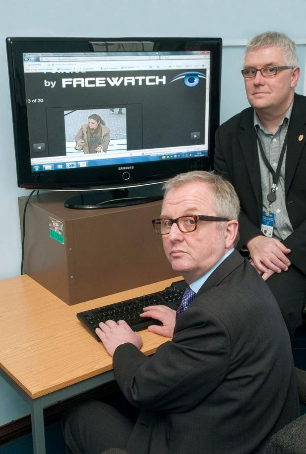 Dudley News: Ian Austin MP takes alook at the new Facewatch website with crime prevention design advisor PC Simon Barrett