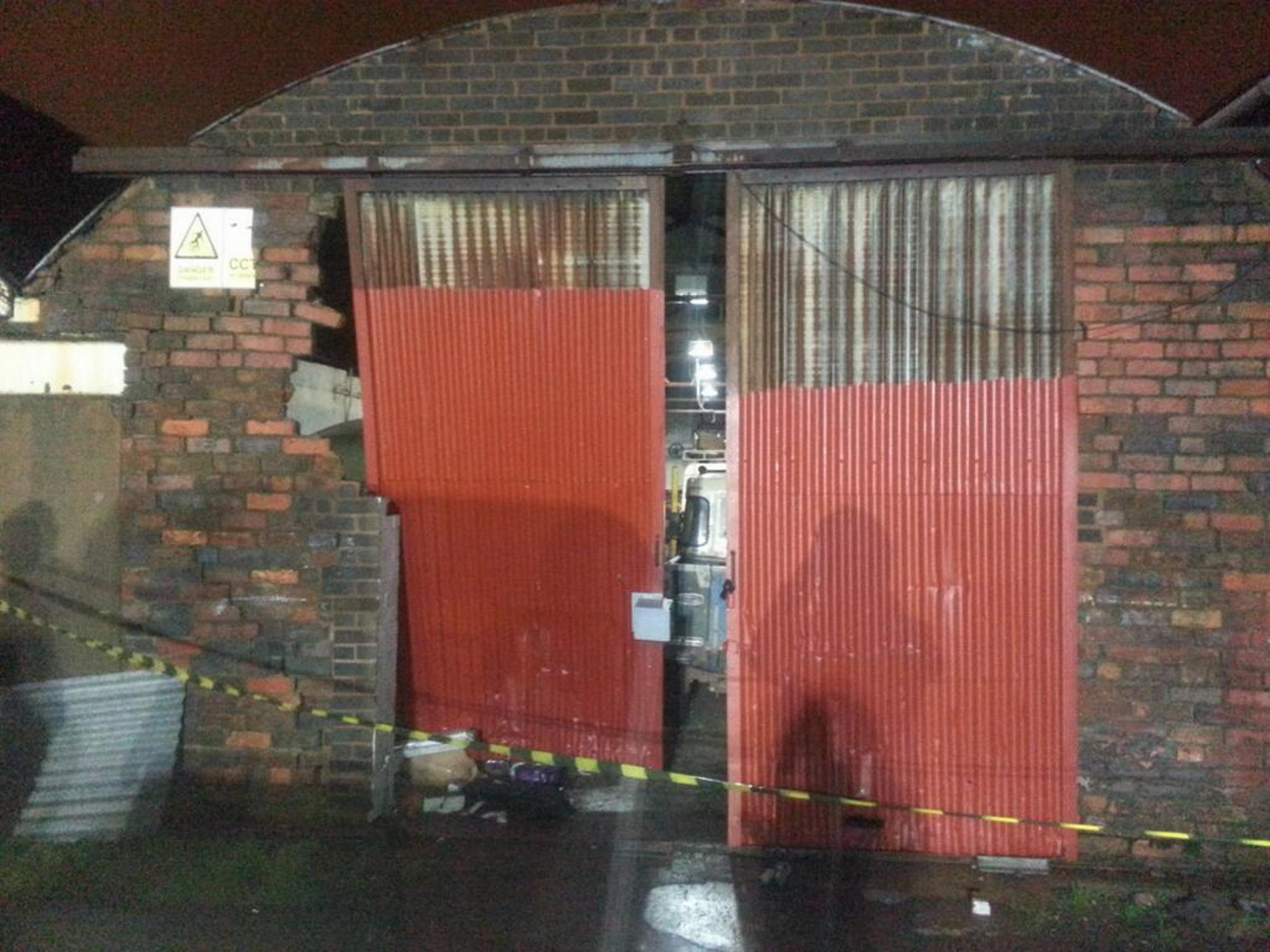 Brierley Hill garage targeted by ram-raiders