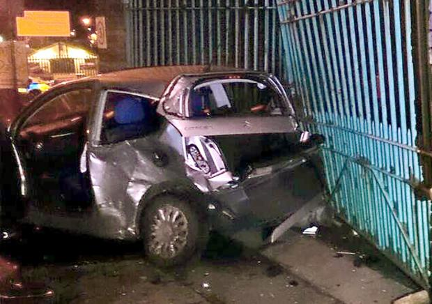 Dudley News: The crash scene. (Picture by West Midlands Ambulance Service)