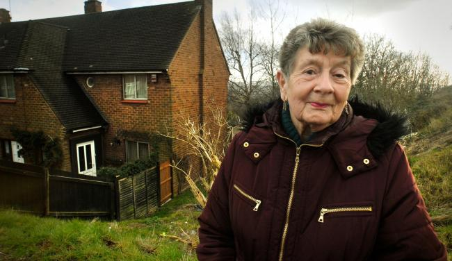 Jean Hale has been left with a worthless home while knotweed grows on the council-owned land next to her home