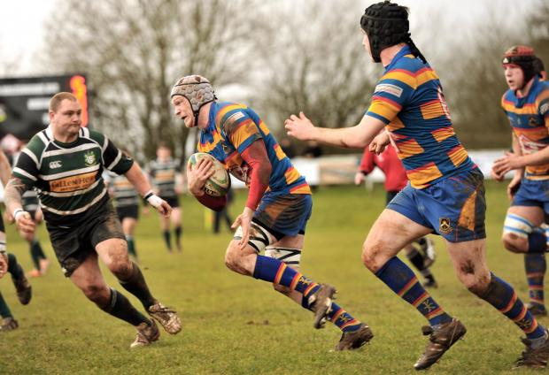 Loz Breese goes on the attack for Hales against Scunthorpe - Picture by Richard Swingler