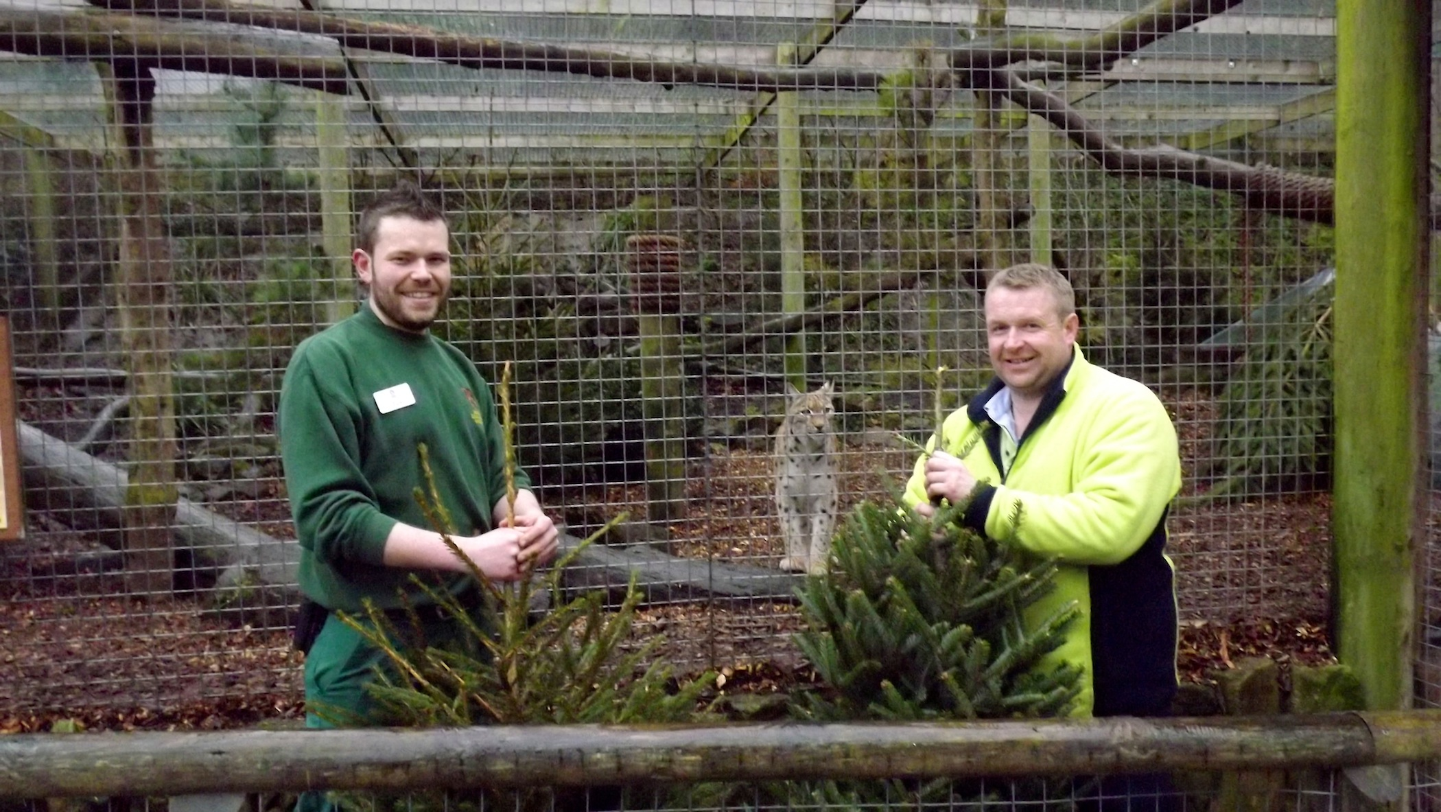 l-r Jay Haywood (zoo keeper) and Nigel Summerfield (acting plant manager).