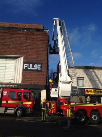 Firefighters at the scene. Picture by @FireBrierley