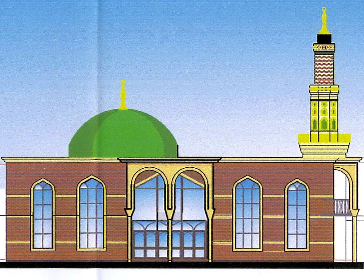A design for the proposed mosque on the Hall Street site which now looks unlikely to ever become reality