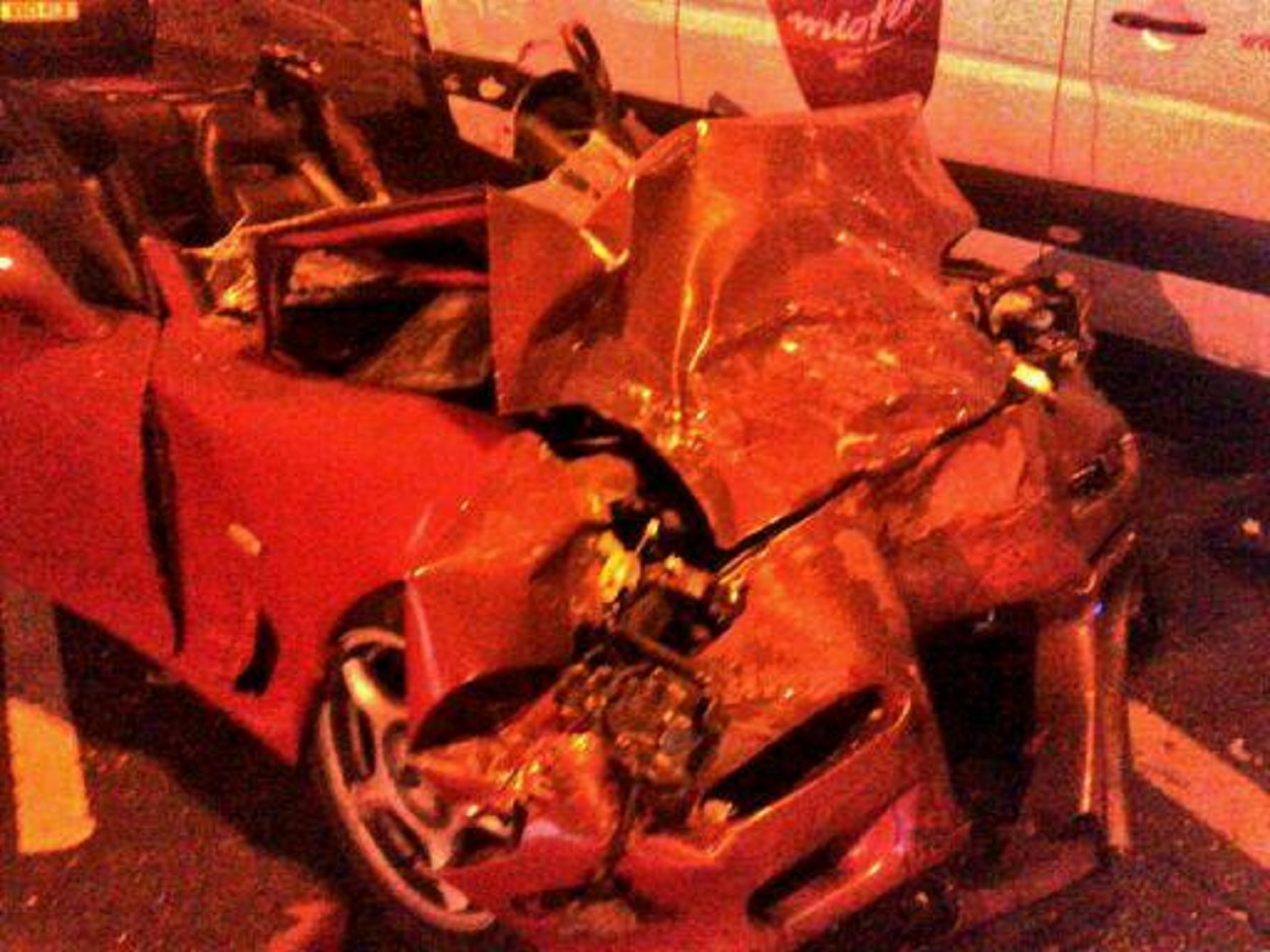 One of the vehicles involved in the crash (picture from West Midlands Police)