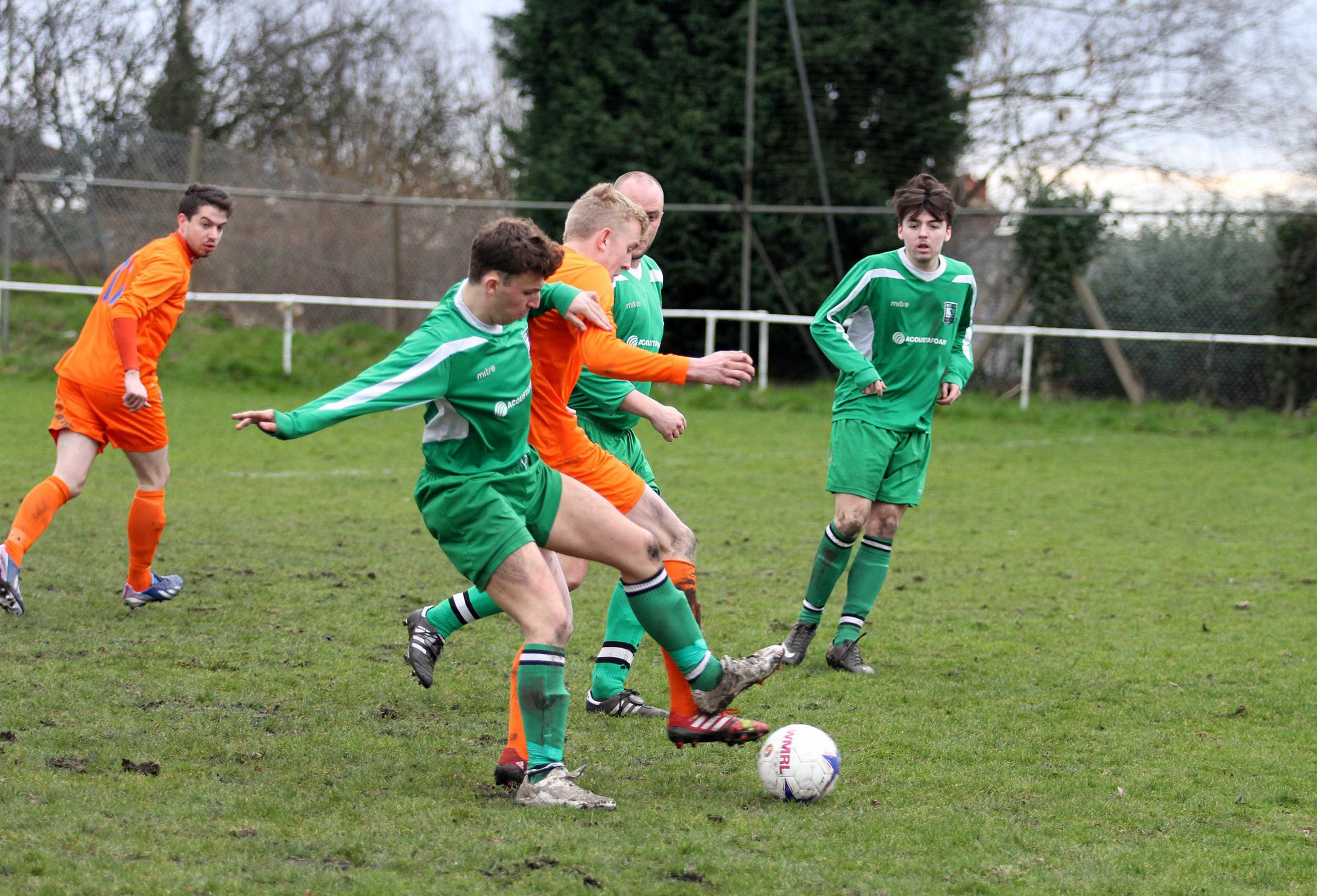 Action from Dudley Sport versus Wellington