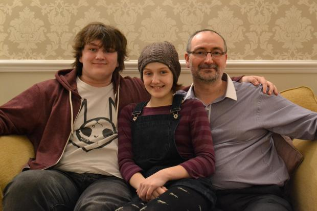 L-r: Alistair, Imogen and Andrew Westwood.