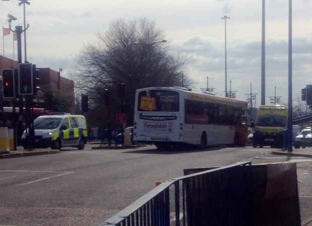 Dudley News: A reader's picture from the scene of today's incident in Dudley