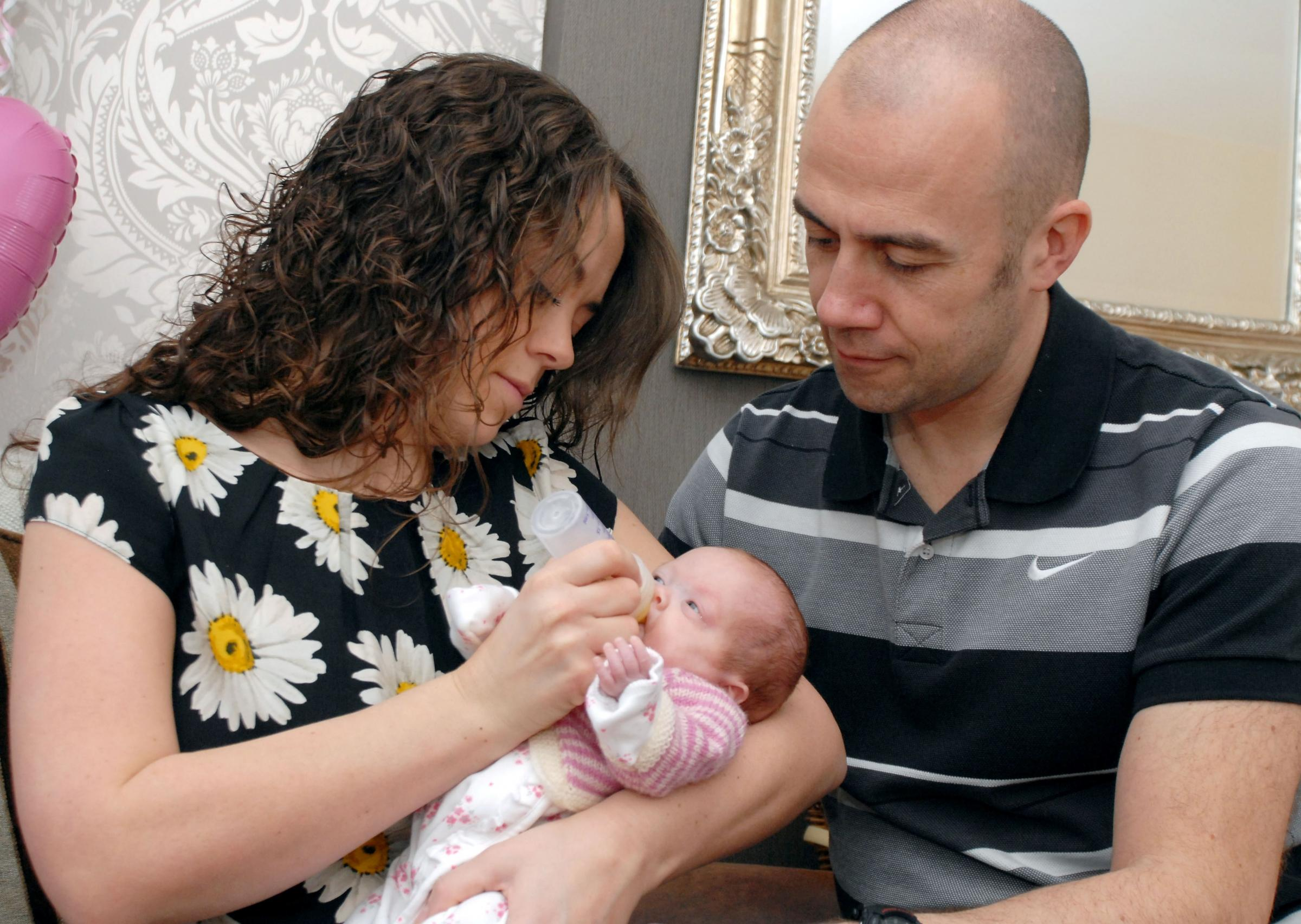 Baby who could not wait to be in the world comes home to Pensnett