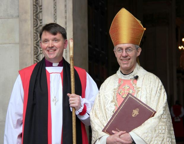 Bishop Graham Usher and the Archbishop of Canterbury Justin Welby