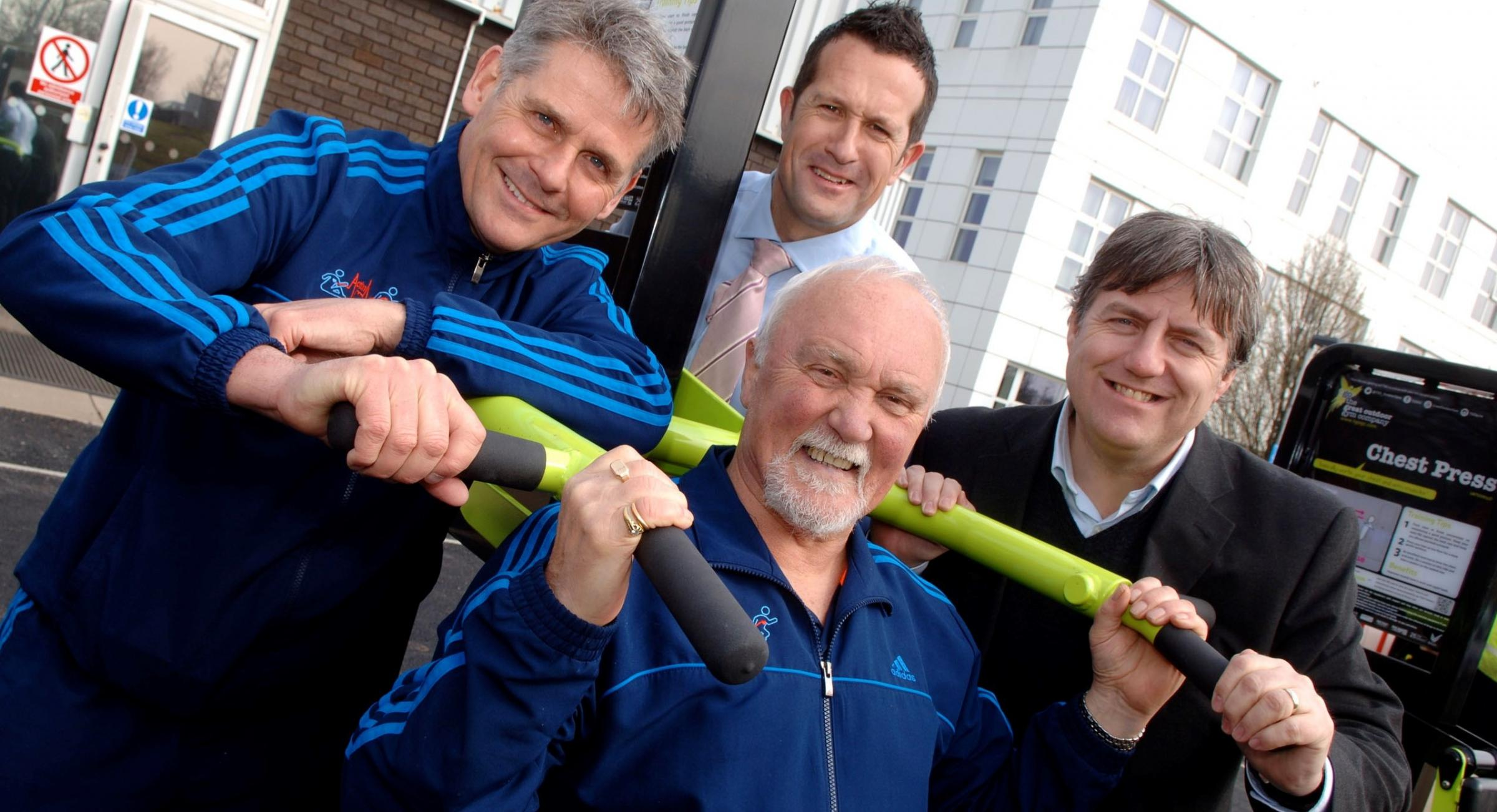 Action Heart director Russ Tipson, Dean Hill from Office of Public Health, Cllr Stuart Turner and