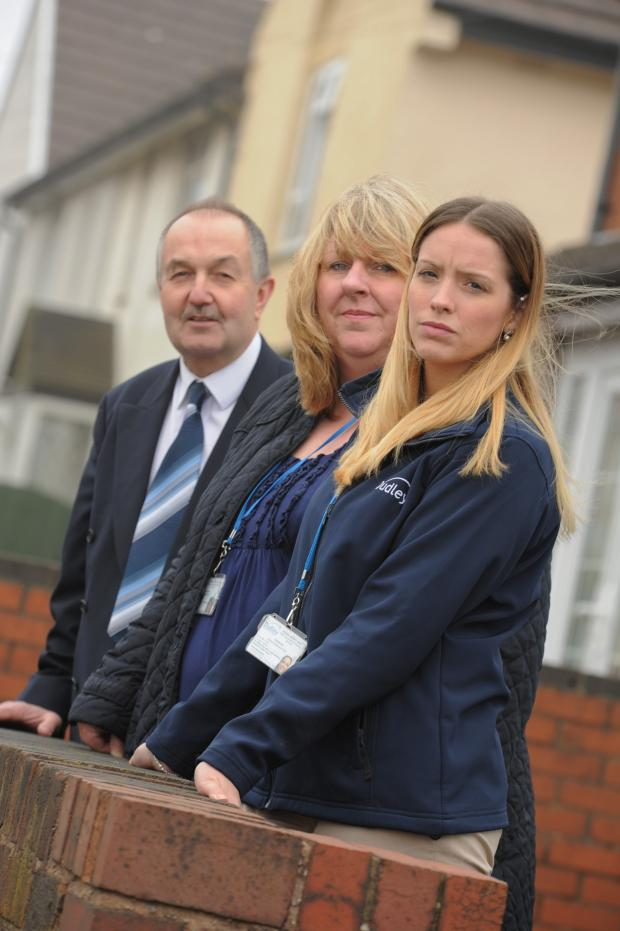 Dudley News: Tackling anti-social behaviour l-r: Cllr Steve Waltho, Tracey Rowe and Charlie Day.