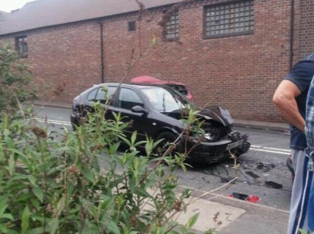 The scene of the accident. Photograph by @StourbridgeFire