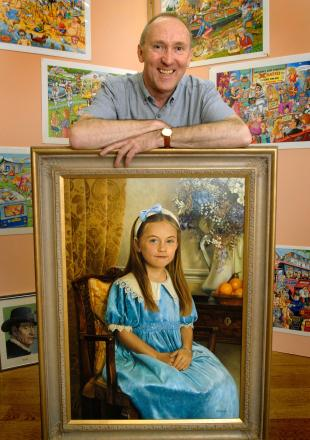 Geoff Tristram with one his favourite classic portraits from over the years. Buy photo: 141428L