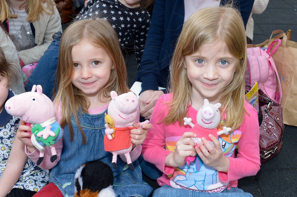 Youngsters party with Peppa Pig at Merry Hill