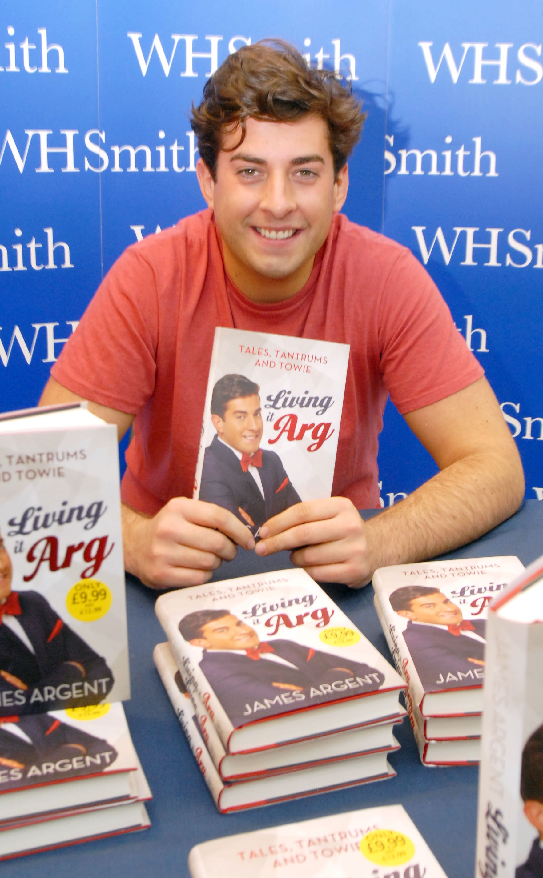 James 'Arg' Argent with his book.