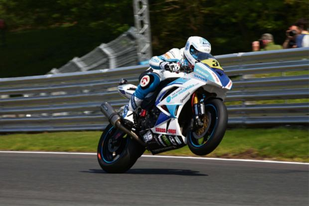 Halesowen's Bradley Hughes crashed out at Oulton Park.