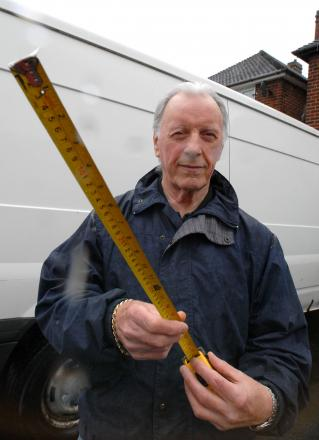 Ian Macaulay was told he could not use a Dudley Council site because his van was two inches too long