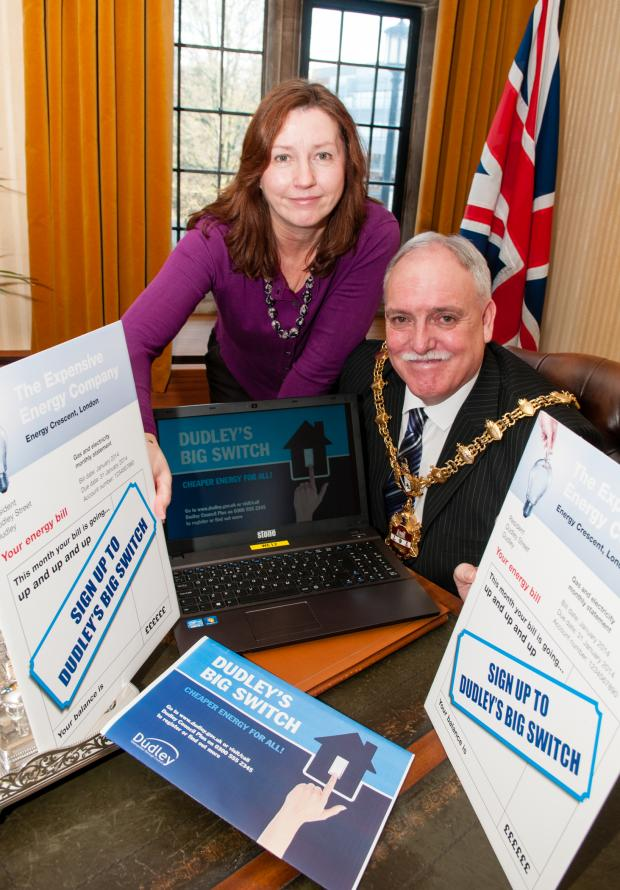 Dudley News: Theresa Kelly from Dudley Council with the Mayor of Dudley Councillor Alan Finch.
