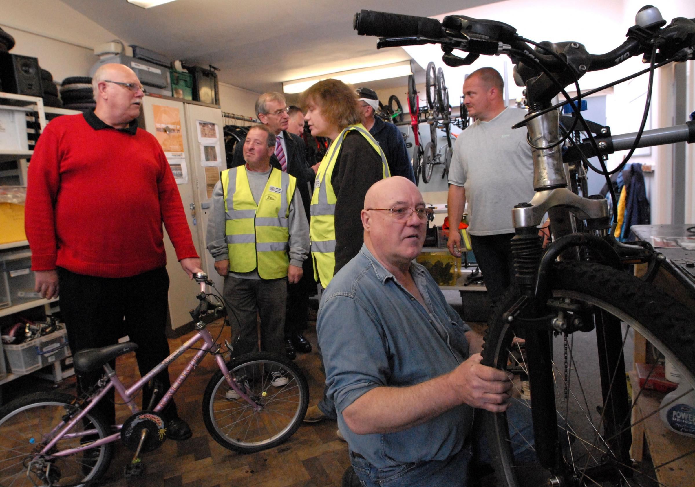 Visitors at City Can Cycle's recent open day saw volunteers working