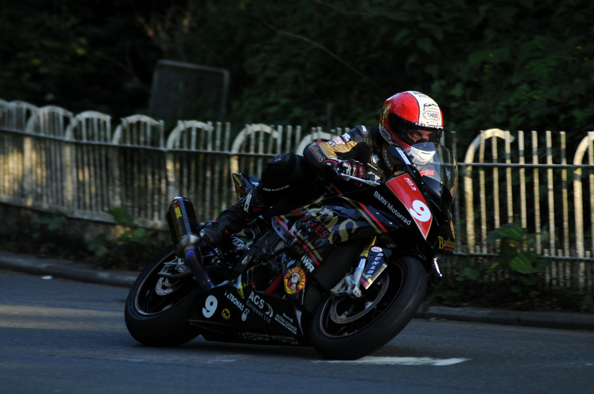 l Michael Rutter during qualifying for the 2014 Isle of Man TT. Photo: Stephen Davison.
