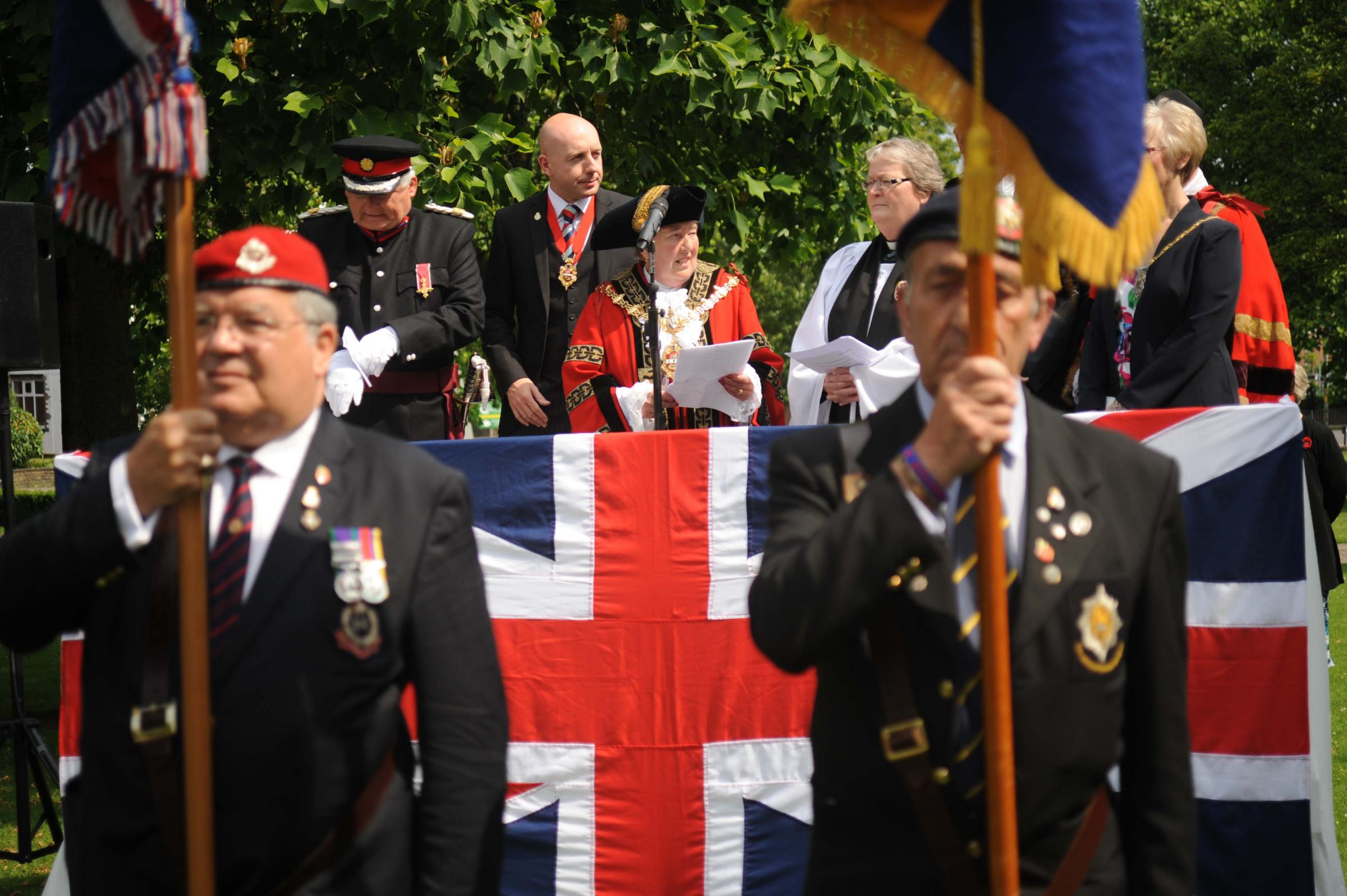 Mayor leads ceremony to raise Armed Forces Flag at Dudley Council House