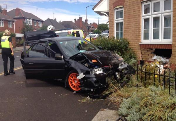 The crash scene in Gornal. Picture from West Midlands Ambulance Service