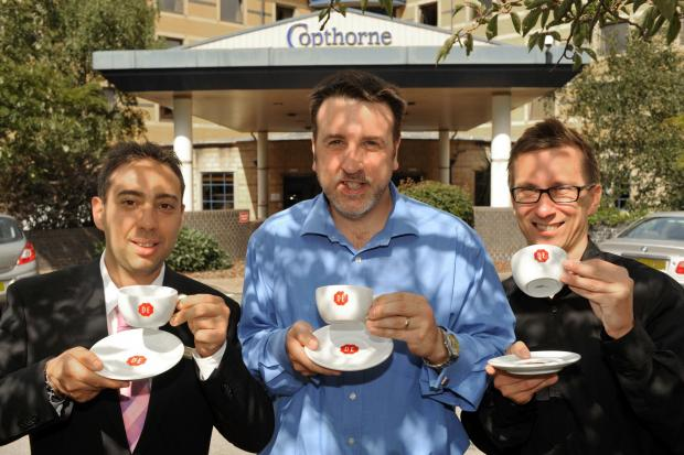 L - r Francesco Ceccarelli - Faradays restaurant and bar manager at The Copthorne at Merry Hill, Douwe Egberts head b