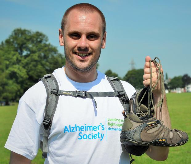 Bret Nightingale raised £1,000 for the Alzheimer's Society  by walking Hadrain's Wall