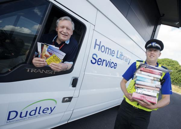 Delivering the message: Terry Molineux (home library officer) and PCSO Simon Verity-Harris.