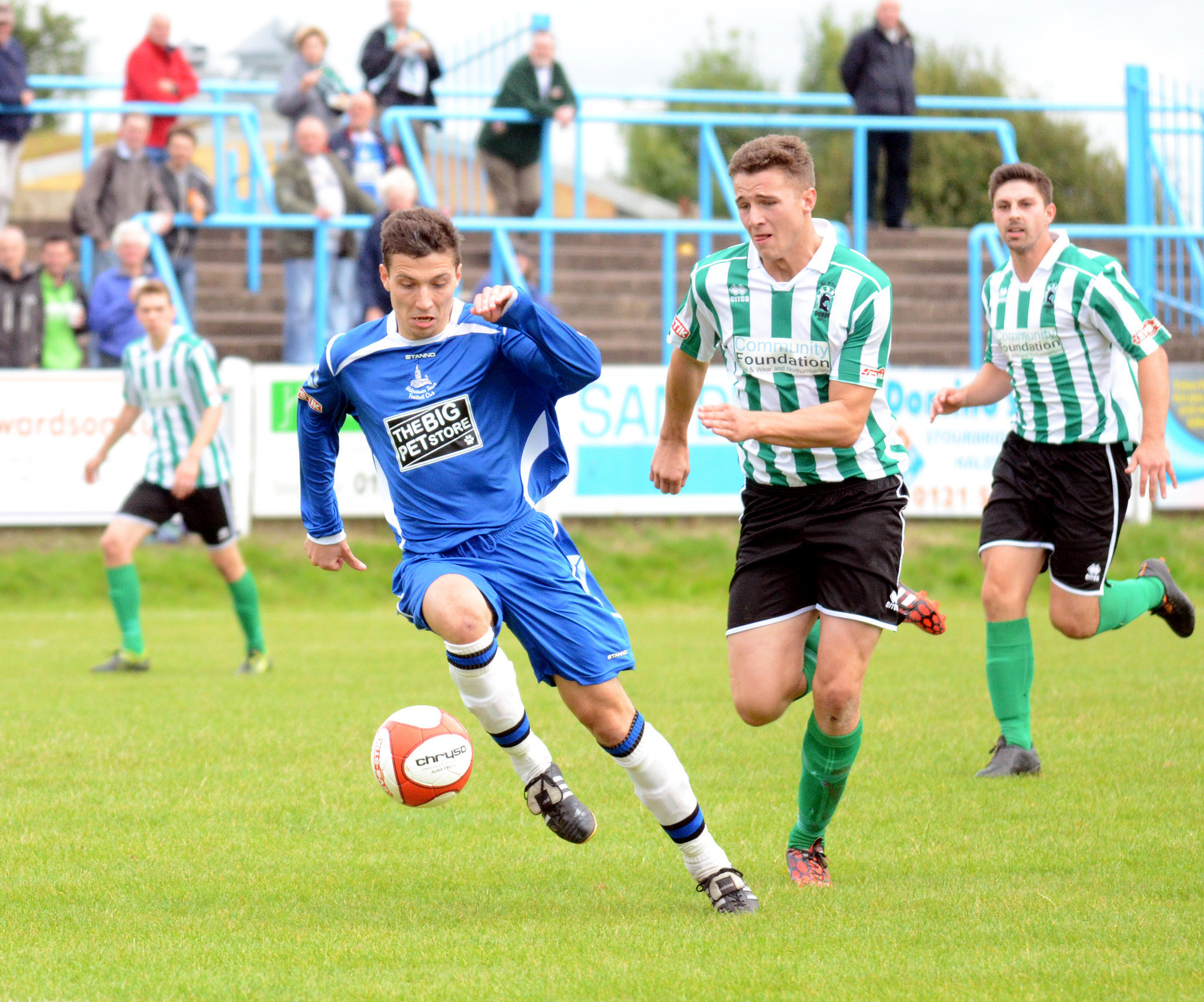 Ben Haseley in action against Blyth Spartans.