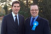Chris Kelly MP with Councillor Mike Wood - the new Dudley South Parliamentary candidate for the Conservatives.
