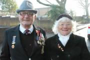 War hero Bob Webb and his wife Connie pictured in 2011