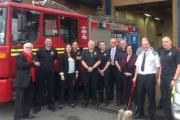 Shadow fire minister visits Dudley Fire Station
